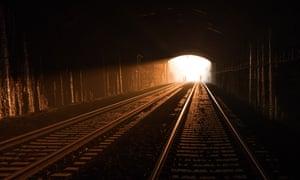 Great Western Railway captures light beaming through Brunel's Box Tunnel near Bath on engineer's birthday