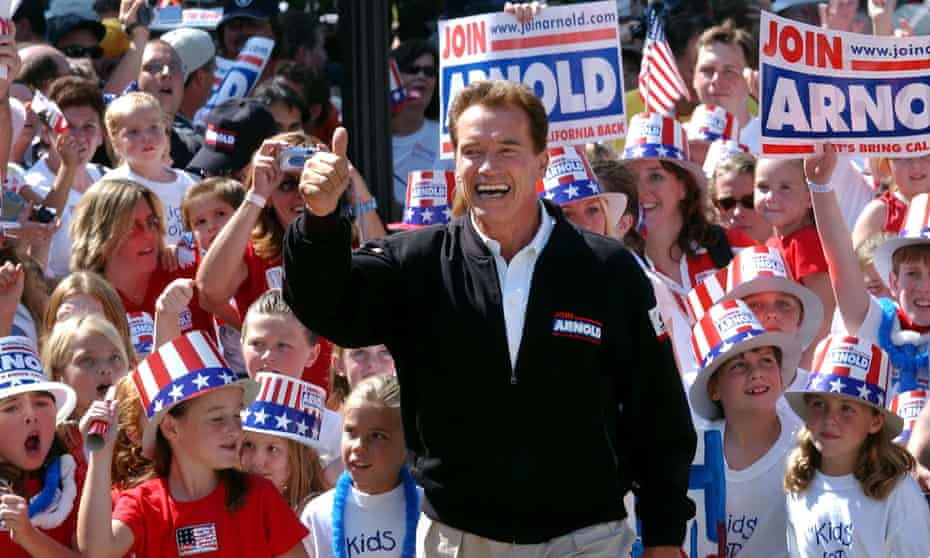 Arnold Schwarzenegger became governor in 2003 after California voters recalled Gray Davis.