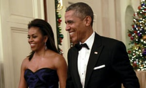 First lady Michelle Obama and President Barack Obama.