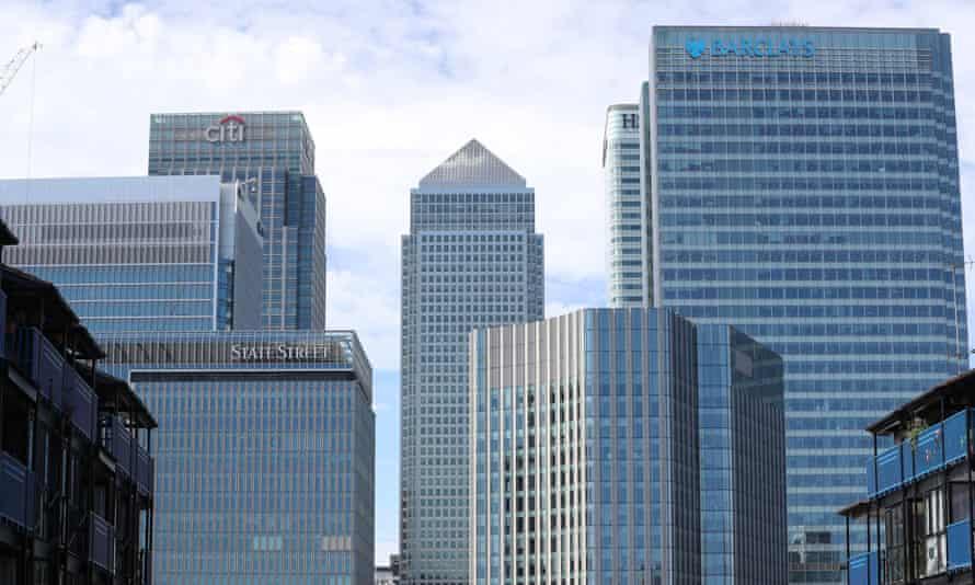 City of London skyline at Canary Wharf