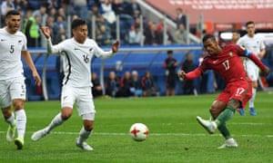 Nani slots home Portugal's fourth.