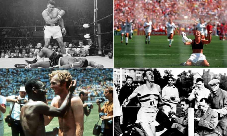 Muhammad Ali, Brandi Chastain, Roger Bannister and Pelé