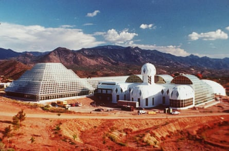 Ziggurat … the futuristic Biosphere 2 complex in the Arizona desert.
