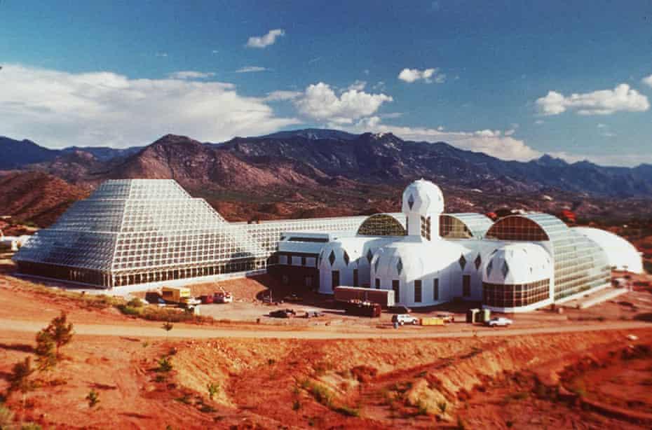 Ziggurat … the futuristic Biosphere 2 complex in the Arizona desert.