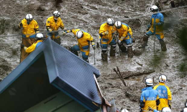 More than 100 people are still missing after a mudslide hit the resort town of Atami, Japan at the weekend.