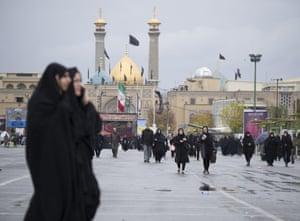 Muslims in Tehran.