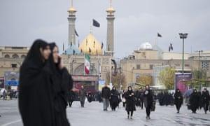 Residents of Tehran, Iran.