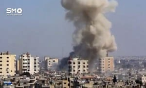 The result of an airstrike in Homs.