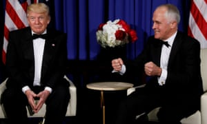 US president Donald Trump and Australia's PM Malcolm Turnbull.