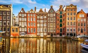 Old buildings in Amsterdam.