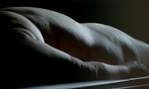 Nude young man in autopsy, naked girl with huge tits