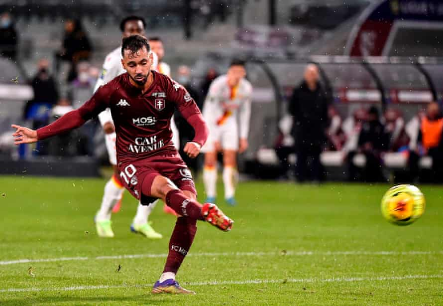Farid Boulaya scored for Metz in a 2-0 win at Lens over the weekend.