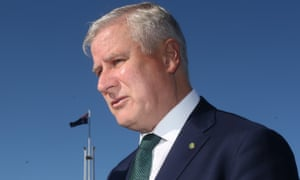 Michael McCormack outside Parliament House