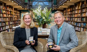 Ruta Sepetys, 2017 CILIP Carnegie medal wnner and Lane Smith, 2017 CILIP Kate Greenaway medal winner at Daunt Books, London.