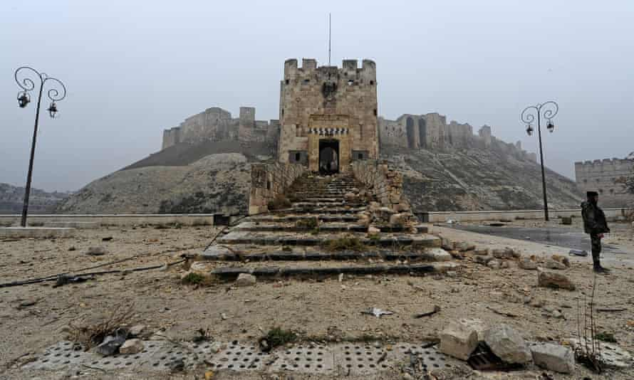 'Where do memories hide?' … the citadel in Aleppo, seen 2016 after heavy damage during the Syrian civil war.
