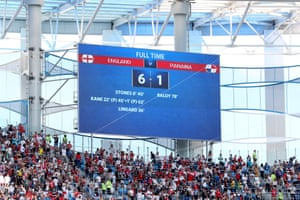 And that's it: 6-1. An unthinkable result. England are through to the knock-out stages.
