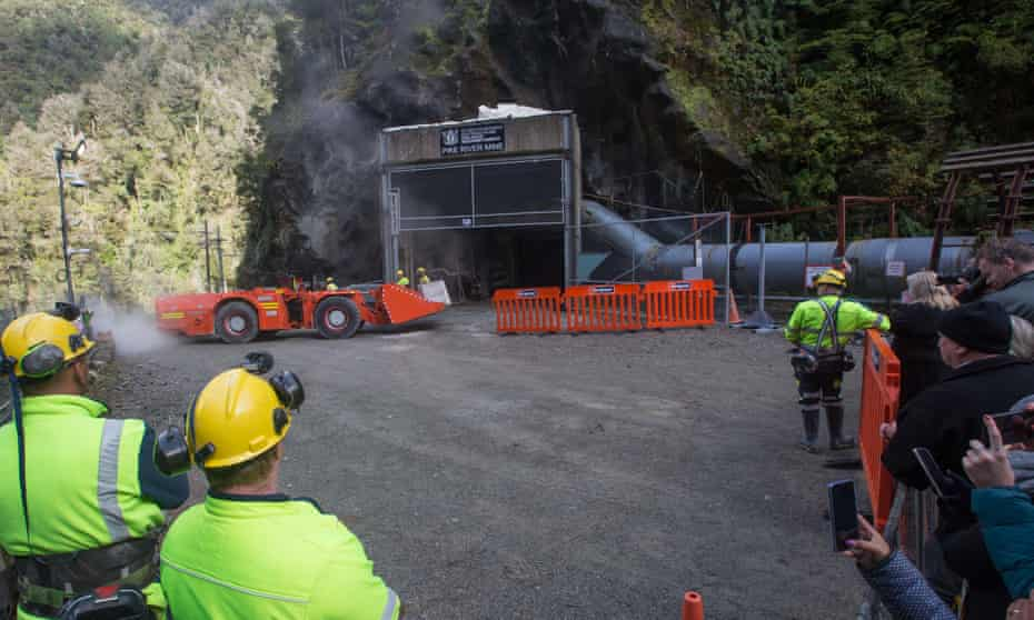 the Pike River Mine is entered with heavy equipment on May 21, 2019 in Greymouth, New Zealand.