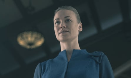Sydney actor Yvonne Strahovski plays Serena in The Handmaid's Tale. Strahovski has been nominated for an Emmy for outstanding supporting actress in a drama series.