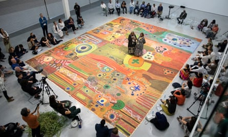 Painted land rights … the Ngurrara Canvas.