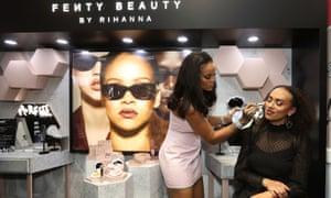 Rihanna at a Fenty beauty event in Sydney.