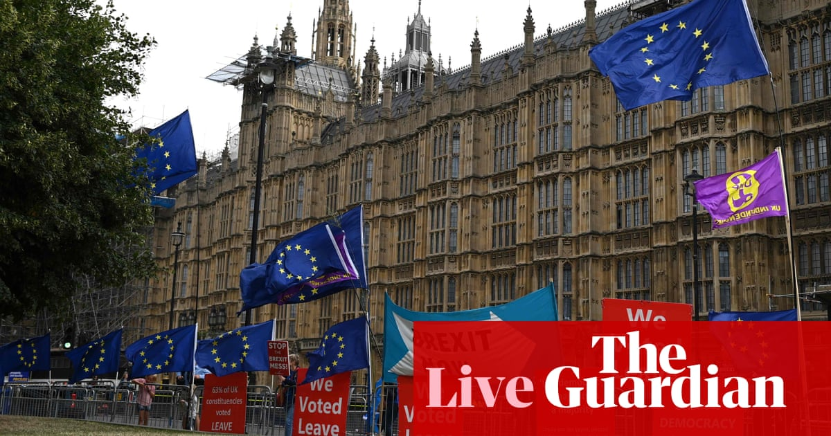 Brexit: opposition and rebels submit application to stop no-deal – live news