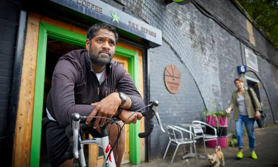 Prakash Patel, who co-owns the Pop up Bikes cafe and repair shop in Manchester.