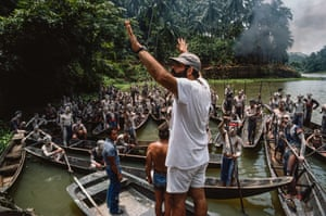 Francis Ford Coppola on the set of Apocalypse Now in 1976. The director recruited Gerretsen to join the production as official photographer after learning of his war experiences. Gerretsen was present during the Chilean coup that killed President Salvador Allende in 1973, taking numerous shots of his successor, Augusto Pinochet.