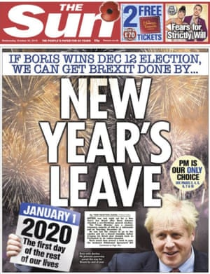 Sun front page 30 Oct 2019