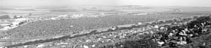 Panoramic view of Isle of Wight festival 1970.