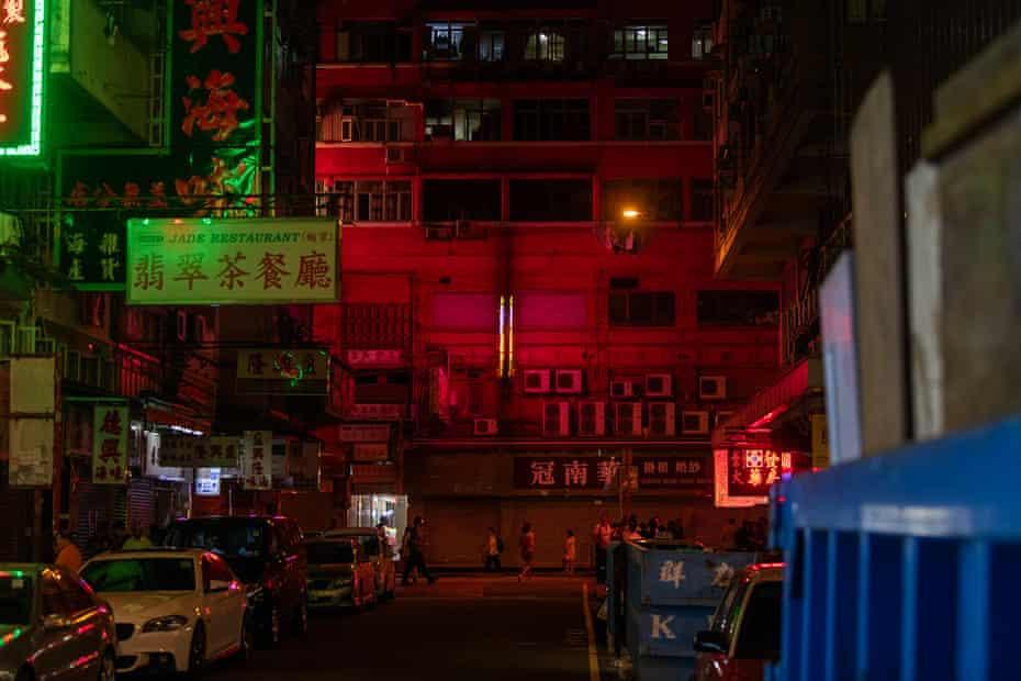 The gentle glow of neon lights
