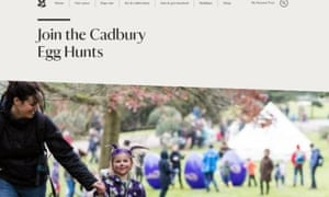 Shot of National Trust Cadbury egg hunt without the word Easter
