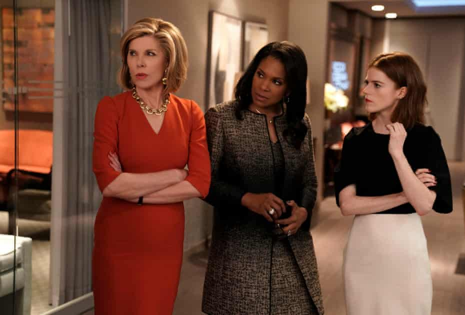 Christine Baranski, Audra McDonald and Rose Leslie in The Good Fight