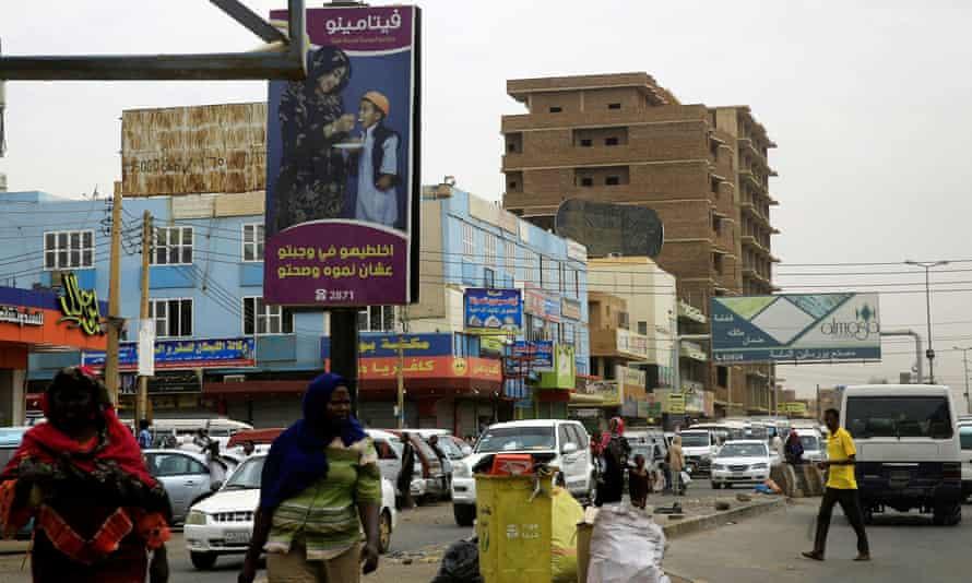 A street in Khartoum, Sudan, June 2019.