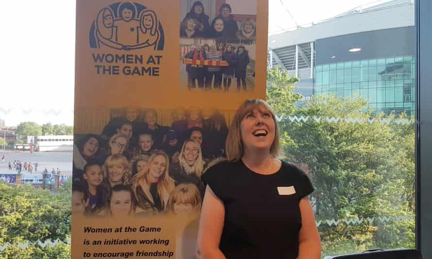 Jacqui Forster's Women at the Game initiative gives women their first taste of live football in a supportive environment or creates a friends' group for seasoned female match-goers.