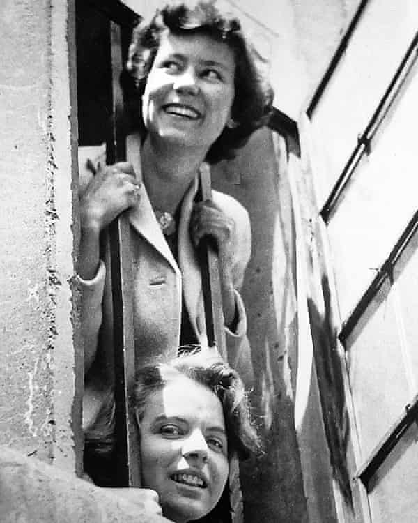 Waterhouse, top, in Oxford in 1943 with her friend Mary Hedley-Miller. She studied history at St Hugh's College