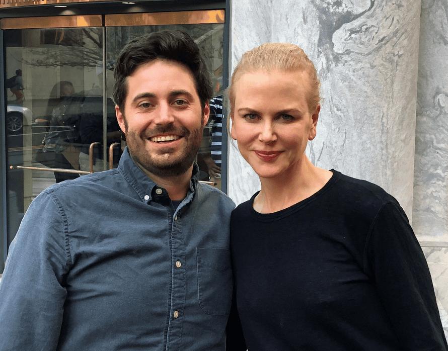 Famous friends: Garrard Conley and Nicole Kidman on the set of Boy Erased.