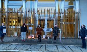 Edinburgh Reclaim the Street laid flowers and candles at a vigil for Sarah Everard