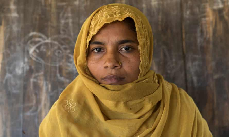 Sara Khatun, 45, at the Balukhali camp: 'If I was unmarried, I would never get married.'