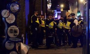 Police on the scene at London Bridge