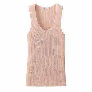 pale pink cashmere vest, Uniqlo