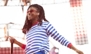 Little Simz performs in 2018.