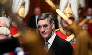 Jacob Rees-Mogg at the state opening of parliament, London, December 2019