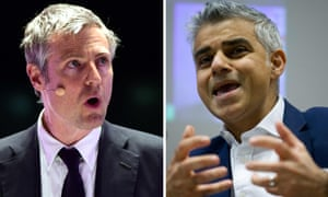 Composite of Conservative London mayoral candidate Zac Goldsmith (left) and Labour candidate Sadiq Khan.