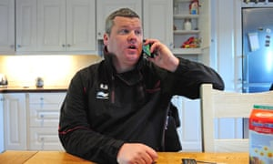 Trainer Gordon Elliott in his kitchen on Wednesday morning.