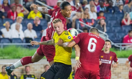 Liverpool go down 3-2 to Dortmund in pre-season friendly