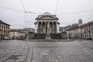 The deserted Gran Madre di Dio church in Turin