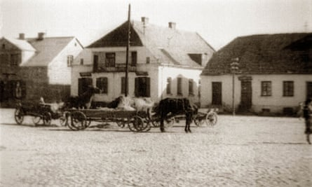 A view of the town of Jedwabne, Poland after the second world war.