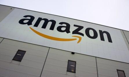 an Amazon logistics centre.
