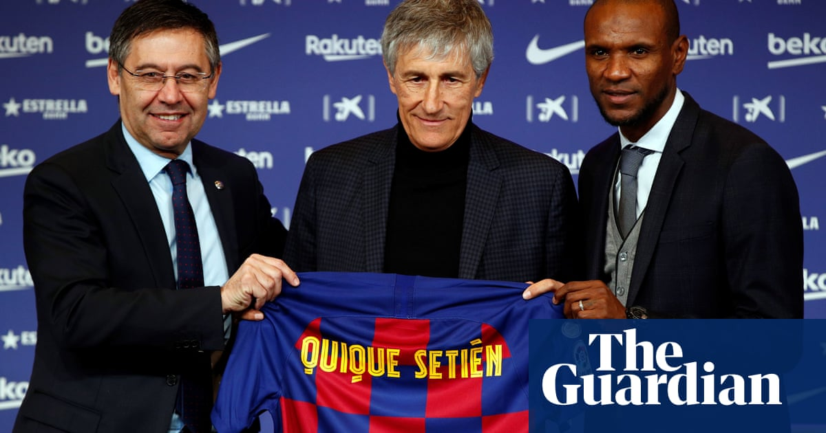 Yesterday I was walking with cows: Quique Setién unveiled as Barcelona coach – video