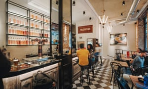 The interior of the remodelled El Palentino bar.